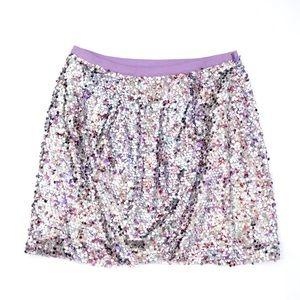 J.Crew Collection Lavender Sequin Mini Skirt
